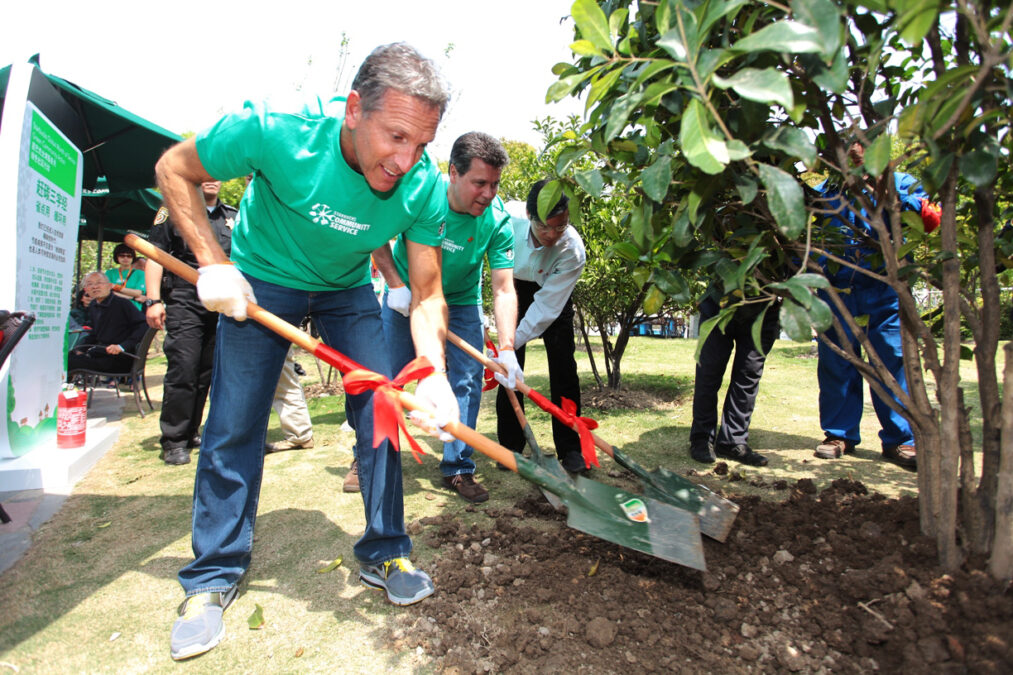 Howard Schultz at the Global Month of Service event