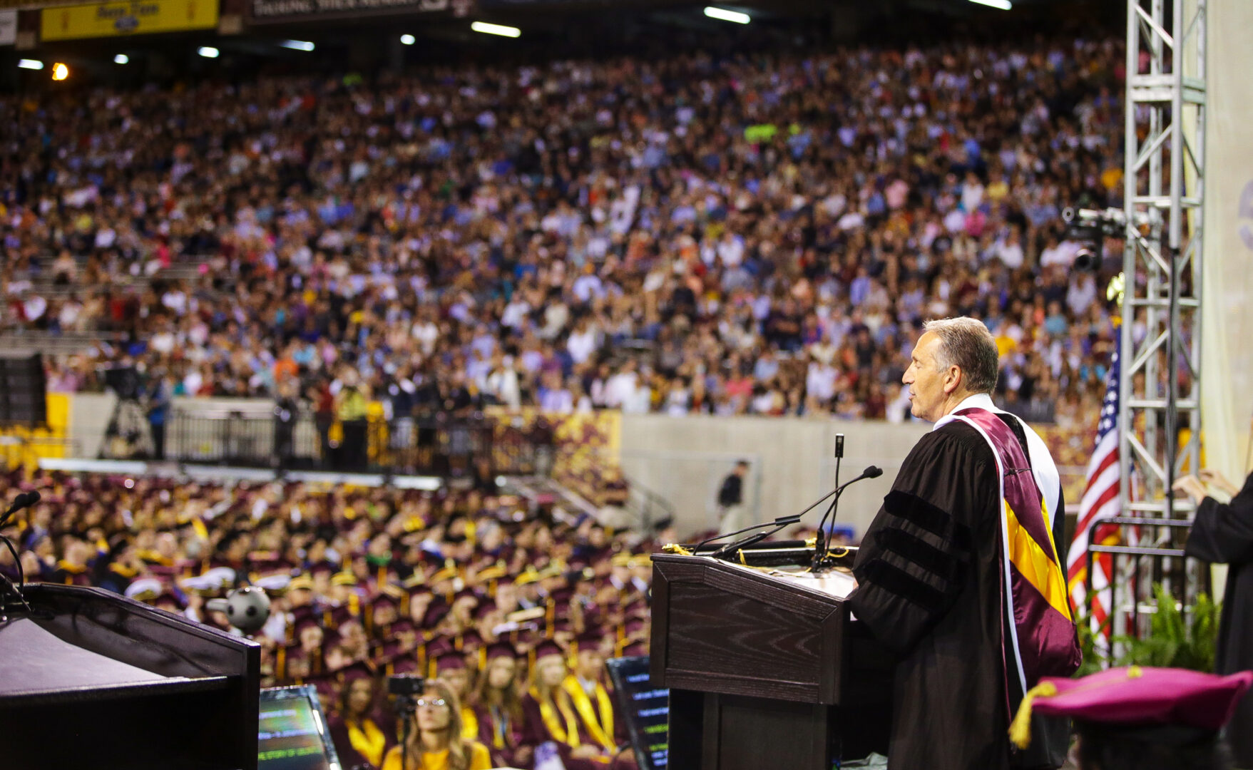 Howard Schultz gives the commencement speech for Arizona State University's class of 2017