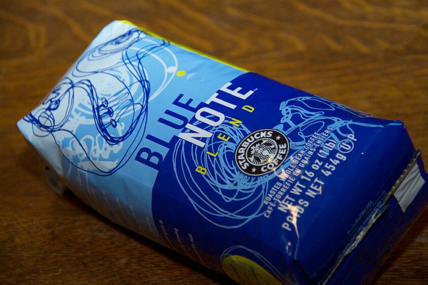 Blue Note Blend coffee packaging