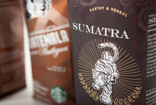 Sumatra coffee packaging