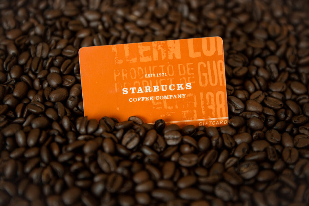 First edition Starbucks Gift Card