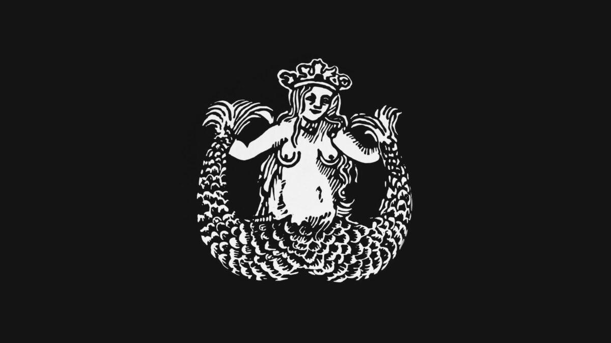 Original artwork of twin-tailed siren