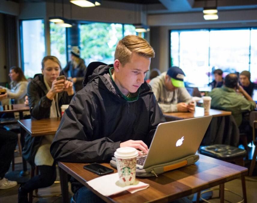 Customer on Laptop