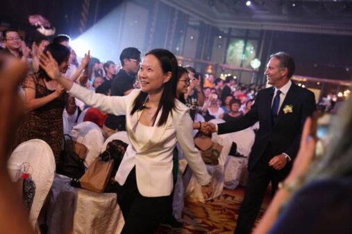 Belinda Wong and Howard Schultz at China Partner Family Forum