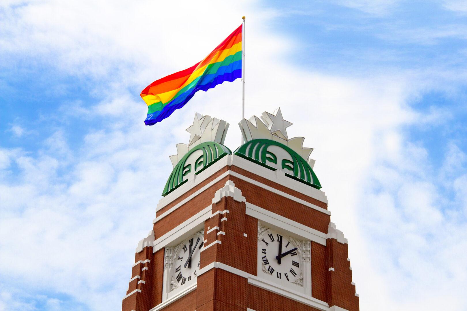 Pride Flag Flying Above SSC