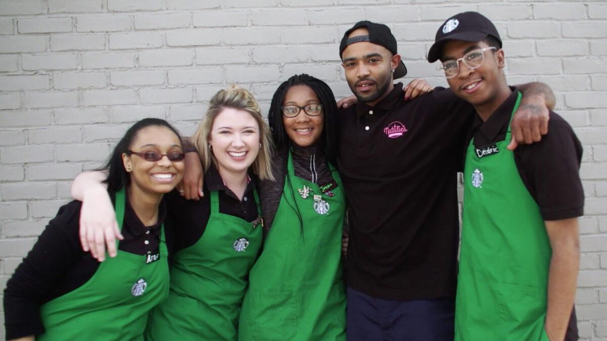 Opening of Starbucks Community Store in Ferguson, Missouri