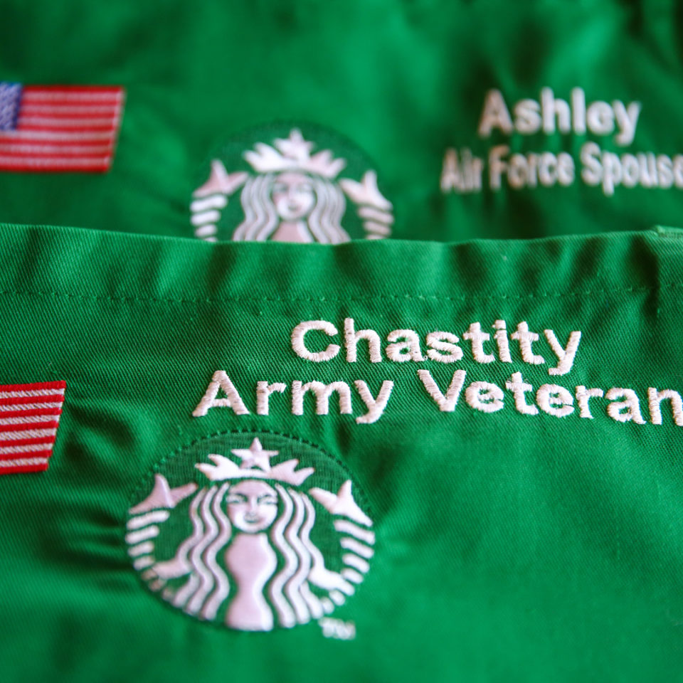 Military Green Aprons